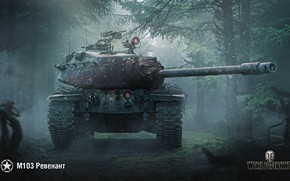 Картинка WoT, World of Tanks, M103, Wargaming, Ревенант