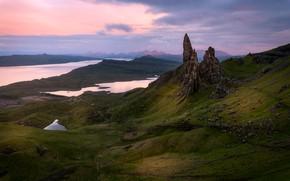 Картинка горы, скалы, вид, Шотландия