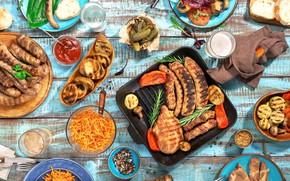 Картинка морковка, мясо, перец, помидоры, соус