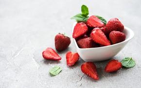 Картинка ягоды, клубника, спелая