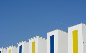 Картинка небо, текстура, пляжный домик