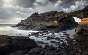 Картинка море, берег, Breizh, Fort des Capucins