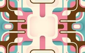 Картинка линии, розовый, голубой, вектор, геометрия, background