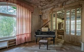 Картинка музыка, окно, пианино