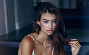 Картинка взгляд, девушка, лицо, красивая, Lorena Rae