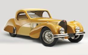 Картинка ретро, Bugatti, 1937, Atalante, Bugatti Type 57s