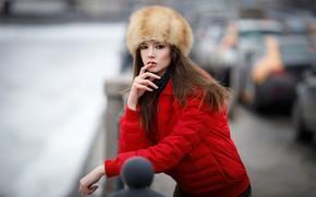 Картинка поза, модель, Девушка, куртка, Maksim Romanov, Disha Shemetova, Максим Романов
