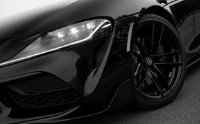 Картинка чёрный, купе, Toyota, бампер, Supra, пятое поколение, mk5, двухместное, 2020, 2019, GR Supra, A90, Gazoo …
