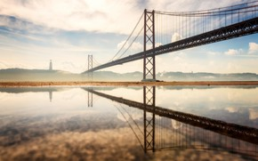 Картинка Portugal, Lisbon, 25 de Abril Bridge