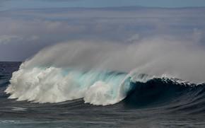 Картинка ocean, blue, wave