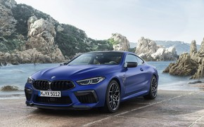 Картинка берег, купе, BMW, стоянка, 2019, BMW M8, M8, M8 Competition Coupe, M8 Coupe, F92