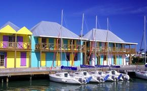 Картинка дом, лодка, причал