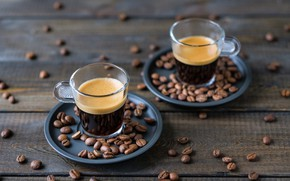 Обои кофе, чашки, wood, кофейные зёрна, coffee, coffee beans