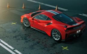 Картинка Красный, Авто, Машина, Ferrari, Суперкар, Рендеринг, Спорткар, Vehicles, 488, Ferrari 488, Transport, Transport & Vehicles, …