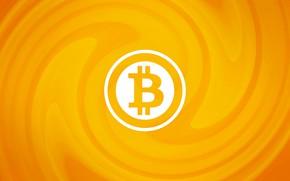 Картинка лого, wall, logo, orange, fon, bitcoin, биткоин, btc