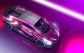 Картинка Авто, Машина, Bugatti, Car, Art, Render, Design, Суперкар, Neon, Supercar, Спорткар, Sportcar, Synthwave, Transport & …