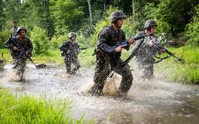 Картинка man, Naval Academy, weapon, camouflage, soldier, Americans, USMC, uniform, gun, USA