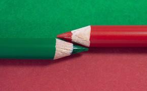 Картинка макро, контраст, карандаш, pencil, грифель, цветные карандаши, stux