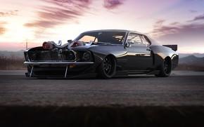 Картинка Mustang, Ford, Авто, Машина, Ford Mustang, Рендеринг, Передок, Rostislav Prokop, By Rostislav Prokop, Mustang BOSS …