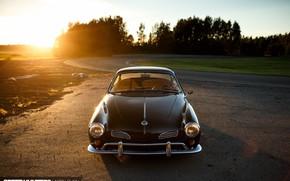 Картинка Volkswagen, Car, Sunset, Photography, Karmann Ghia, Socal