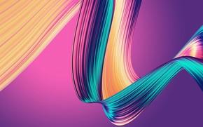 Картинка фон, радуга, лента