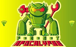 Картинка green, robot, chameleon