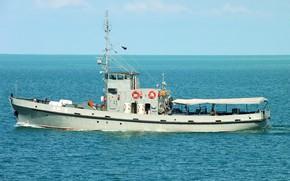 Картинка катер, Черное море, водолазный