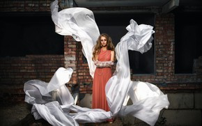 Картинка девушка, модель, волосы, платье, Рита, Dmitry Medved