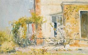 Картинка пейзаж, дом, картина, 1913, The Eyrie, Том Робертс, Tom Roberts