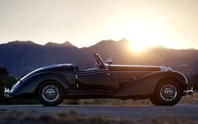 Картинка Black, Vintage, 540 K, Mersedes Benz