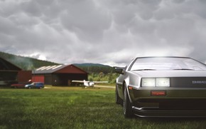 Картинка Авто, Машина, DeLorean DMC-12, Art, DeLorean, DMC-12, Transport & Vehicles, DMC BTTF, Umut Ersoy, by …