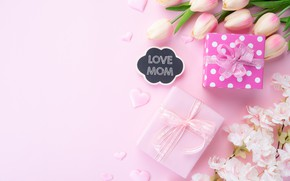 Картинка цветы, подарок, букет, поздравление, День матери