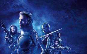 Картинка фантастика, постер, синий фон, Nebula, комикс, Captain America, Крис Эванс, MARVEL, Chris Evans, Steve Rogers, …