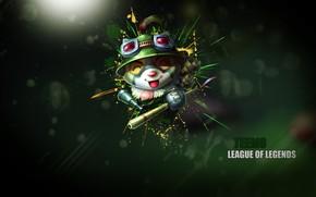 Картинка фон, зверёк, League of Legends, Лига легенд
