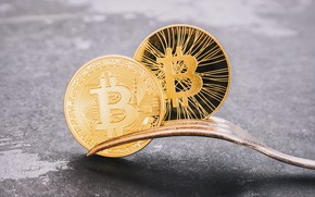 Картинка gold, fork, bitcoin