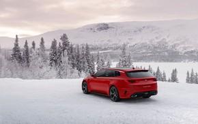 Картинка зима, Concept, снег, Kia, универсал, 2015, Sportspace, на фоне гор