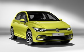 Картинка Volkswagen, хэтчбек, Golf, hatchback, 2020
