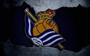 Картинка wallpaper, sport, logo, football, Real Sociedad