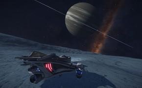 Картинка космос, туманность, планета, Космический Корабль, Elite: Dangerous