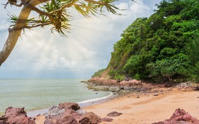 Картинка песок, море, волны, пляж, лето, камни, берег, summer, beach, sea, blue, seascape, sand, wave