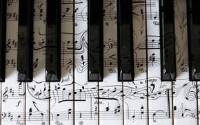 Картинка музыка, клавиши, пианино