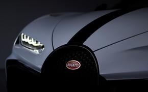 Картинка фара, капот, Bugatti, Chiron, 2020, Chiron Pur Sport