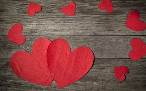 Картинка любовь, сердце, red, love, wood, romantic, hearts