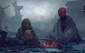 Картинка Two, SCi fi, Vladimir Manyukhin, Нас двое и я одна..., Concept ar