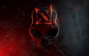 Картинка fire, skull, logo
