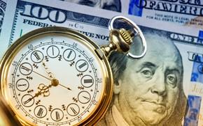 Картинка dollar, time, clock