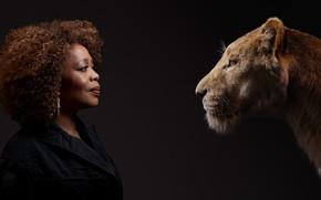 Картинка фон, женщина, актриса, львица, Король Лев, The Lion King