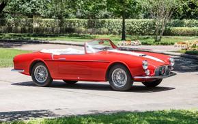 Картинка Maserati, Спицы, Classic, Хром, 1956, Classic car, Maserati A6G/2000 Gran Sport Spyder