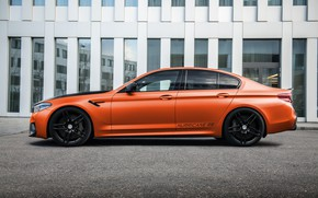 Картинка BMW, Тюнинг, БМВ, Orange, G-Power, Tuning, Hurricane, M5, F90