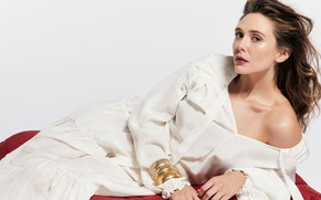 Картинка взгляд, девушка, поза, фото, актриса, шатенка, красотка, Elizabeth Olsen
